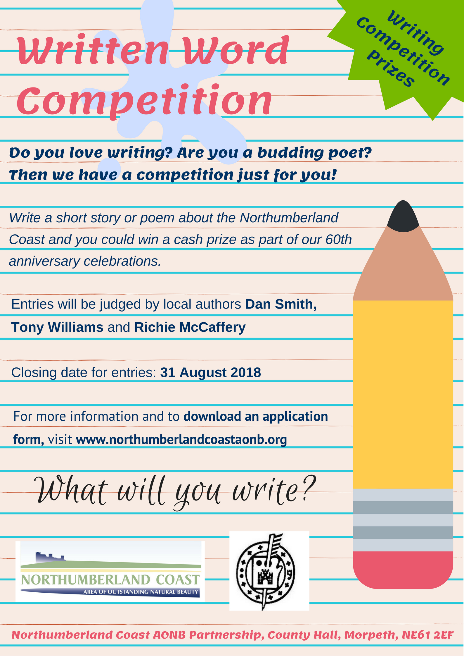 Northumberland Coast AONB launches written word competition. What will you write?